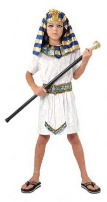 Boys Pharaoh Costume - White and Gold